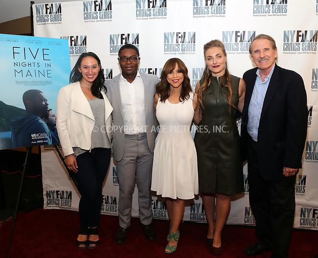 www.acepixs.com<br /> <br /> August 1 2016, New York City<br /> <br /> (L-R) Producer Carly Hugo, actors David Oyelowo and Rosie Perez, writer, director and producer Maris Curran and journalist and film critic Peter Travers at the 'Five Nights In Maine' New York Film Critics Screening at the AMC Empire 25 theater on August 1, 2016 in New York City.<br /> <br /> By Line: Serena Xu/ACE Pictures<br /> <br /> <br /> ACE Pictures Inc<br /> Tel: 6467670430<br /> Email: info@acepixs.com<br /> www.acepixs.com