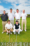 Munster Senior Cup Winners: Members of Killarney Golf & Fishing Club who defeated Doneraile Golf Club by 3 1/2 to 1 1/2 in the final of the Munster Senior Cup held in Ballybunion Golf Club on Saturday last. Front : Somon Gallivan & Donal Considine. Back : Billy O'Boyle, Manager, Stephen & James O'Neill & Cormac Finn.