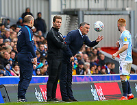 Blackburn Rovers manager Tony Mowbray throws the ball to Harrison Reed<br /> <br /> Photographer Alex Dodd/CameraSport<br /> <br /> The EFL Sky Bet Championship - Blackburn Rovers v Preston North End - Saturday 9th March 2019 - Ewood Park - Blackburn<br /> <br /> World Copyright © 2019 CameraSport. All rights reserved. 43 Linden Ave. Countesthorpe. Leicester. England. LE8 5PG - Tel: +44 (0) 116 277 4147 - admin@camerasport.com - www.camerasport.com