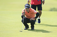 Yoshinori Fujimoto (JPN) on the 1st green during Thursday's Round 1 of the 148th Open Championship, Royal Portrush Golf Club, Portrush, County Antrim, Northern Ireland. 18/07/2019.<br /> Picture Eoin Clarke / Golffile.ie<br /> <br /> All photo usage must carry mandatory copyright credit (© Golffile | Eoin Clarke)