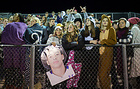 NWA Democrat-Gazette/CHARLIE KAIJO Fayetteville High School students watch a playoff football game on Friday, November 10, 2017 at Fayetteville High School in Fayetteville.