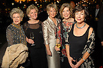 Mary Kay Henson, Kay McKinney, Wanda Brothers, Peggy Menchaca and Judith Guthrie at the Discovery Green Gala at Discovery Green Park downtown Saturday Feb. 23,2008.(Dave Rossman/For the Chronicle)
