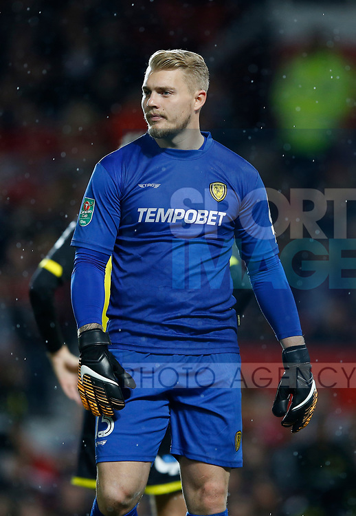 Connor Ripley of Burton Albion during the Carabao Cup Third Round match at the Old Trafford Stadium, Manchester. Picture date 20th September 2017. Picture credit should read: Simon Bellis/Sportimage