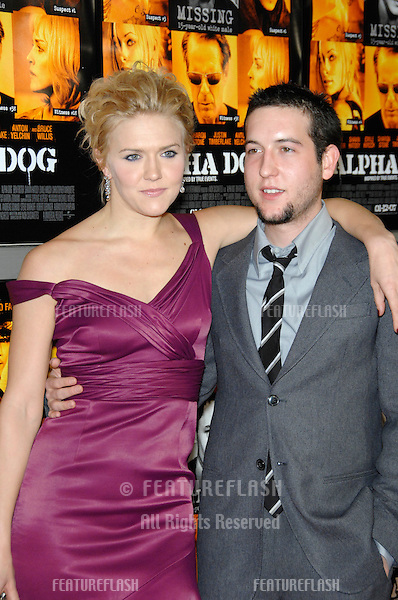 "DOMINIQUE SWAIN & CHRISTOPHER MARQUETTE at the world premiere of their new movie ""Alpha Dog"" at the Arclight Theatre, Hollywood..January 3, 2007  Los Angeles, CA.Picture: Paul Smith / Featureflash"