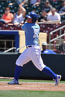 Omaha Storm Chasers Travis Snider (33) swings during the Pacific Coast League game against the Nashville Sounds at Werner Park on June 5, 2016 in Omaha, Nebraska.  Omaha won 6-4.  (Dennis Hubbard/Four Seam Images)
