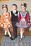 FEIS: Dancing at the Feis in Causeway Comprehensive School on Sunday were l-r: Carla Hanafin and Padraig Barrett (Causeway) and Hazel O'Donovan (Glin)..