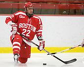 Ross Gaudet (BU - 22) - The Boston University Terriers defeated the Harvard University Crimson 6-5 in overtime on Tuesday, November 24, 2009, at Bright Hockey Center in Cambridge, Massachusetts.