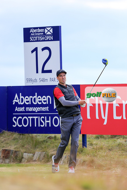 Ross Fisher (ENG) during round 2 of the Aberdeen Asset Management Scottish Open 2016, Castle Stuart  Golf links, Inverness, Scotland. 08/07/2016.<br /> Picture Fran Caffrey / Golffile.ie<br /> <br /> All photo usage must carry mandatory copyright credit (&copy; Golffile | Fran Caffrey)