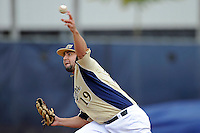 4 March 2012:  FIU pitcher R.J. Fondon (19) pitches early in the game as the FIU Golden Panthers defeated the Brown University Bears, 8-3, at University Park Stadium in Miami, Florida.