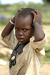 A boy in Dondona, an Arab village in South Darfur.