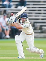 Picture by Alex Whitehead/SWpix.com - 19/07/2014 - Cricket - LV County Championship Div One - Yorkshire CCC v Middlesex CCC, Day 1 - North Marine Road Ground, Scarborough, England - Yorkshire's Adam Lyth hits out.