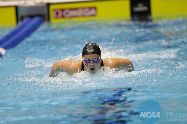 INDIANAPOLIS, IN - MARCH 18: Katie MClaughli od Souther California swims in the 200 Yard Butterfly during the Division I Women's Swimming & Diving Championships held at the Indiana University Natatorium on March 18, 2017 in Indianapolis, Indiana. (Photo by A.J. Mast/NCAA Photos via Getty Images)