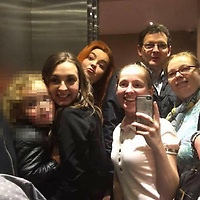 """Pictured: Tyler Denton (holding mobile phone) with sisters Cody (2nd L) and Shannen (3rd L), their mother (R) and father Paul Denton (TOP) <br /> Re: A 25th birthday party  ended in a knife attack leaving one woman dead and her two sisters and father seriously injured, a jury has heard.<br /> Tyler Denton had been celebrating the birthday of her partner Hayley Barnett's with Shannen and Cody Denton at the home she shared with her friend Redvers Bickley.<br /> But Mr Bickley, 21, made the attack in Rhyl, Denbighshire, north Wales, after feeling """"resentful and angry"""" he had been left out.<br /> He denies murder and attempted murder.<br /> The trial at Mold Crown Court heard the three sisters and Ms Barnett had been having """"a very jolly evening"""" laughing, joking and taking selfies.<br /> John Philpotts QC for the CPS said Mr Bickley had been out of the house drinking until 9pm on 10 September 2017.<br /> The jury were told that the defendant """"felt resentful and angry at his exclusion"""" from the group's evening."""