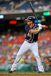 16 May 2012: Washington Nationals first baseman Adam LaRoche in action against the Pittsburgh Pirates at Nationals Park in Washington, DC. The Nationals defeated the Pirates 7-4 in the first game of their 2-game series. Mandatory Credit: Ed Wolfstein Photo
