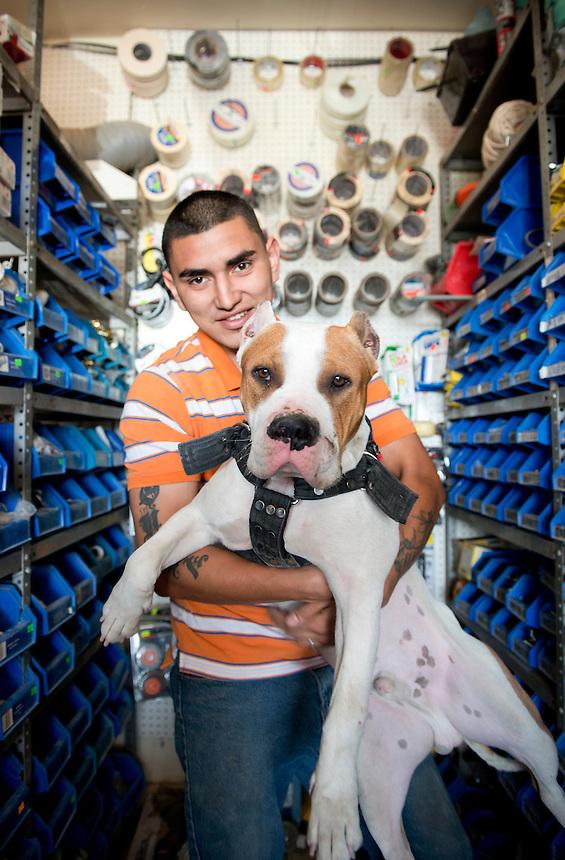Alberto Cardenas Higuera. Hardware store owners in Mexicali, Baja California, Mexico