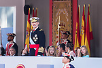 King Felipe VI of Spain during the Military parade because of the Spanish National Holiday. October 12, 2019.. (ALTERPHOTOS/ Francis Gonzalez)