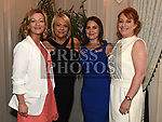 Mandy Furey, Therese McDonnell, Isabel Corrigan, and Karen Babington at the Red Door Project dinner dance in the Westcourt hotel. Photo:Colin Bell/pressphotos.ie