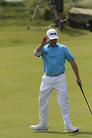 Louis Oosthuizen (RSA) sinks his birdie putt on the 6th green during Thursday's Round 1 of the Dubai Duty Free Irish Open 2019, held at Lahinch Golf Club, Lahinch, Ireland. 4th July 2019.<br /> Picture: Eoin Clarke | Golffile<br /> <br /> <br /> All photos usage must carry mandatory copyright credit (© Golffile | Eoin Clarke)