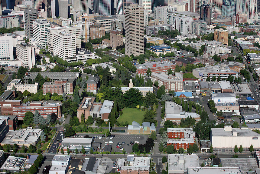 07062011 - Seattle University, Aerial photography of campus, helicopter shots
