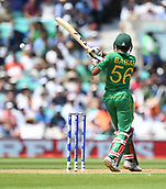 June 18th 2017, The Kia Oval, London, England;  ICC Champions Trophy Cricket Final; India versus Pakistan; Babar Azam of Pakistan pulls the ball for 2