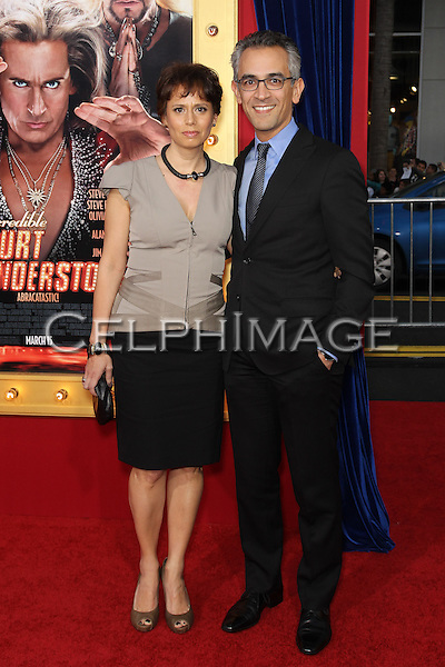 "Dr. Paula Cuello, Richard Wolffe. World premiere of ""The Incredible Burt Wonderstone,"" at TCL Chinese Theater. Hollywood, CA USA. March 11, 2013.©CelphImage"