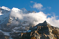 The Jungrfrau from Murren - Jungfrau Region - Alps Switzerland