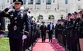 President Donald Trump arrives at the 37th Annual National Peace Officers' Memorial Service at the U.S. Capitol Building on May 15, 2018 in Washington, D.C.<br /> Credit: Kevin Dietsch / Pool via CNP