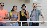 John Driscoll, Kelly Thiebaud, Bryan Craig, Tom Pelphrey  donated their time at 15th Southwest Florida Soapfest 2014 Charity Weekend - at Cruisin' and Schmoozin' on May 25, 2104 aboard the Marco Island Princess (boat), Marco Island, Florida.  (Photo by Sue Coflin/Max Photos)
