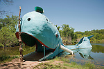 The Blue Whale built in the 1970s along historic Rt. 66 near Catoosa, Okla.