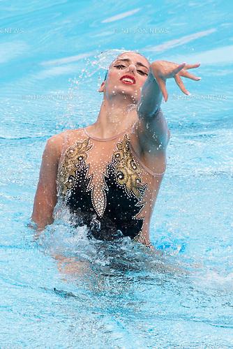 Wasiliki Alexandri (AUT), JULY 15, 2017 - Synchronized Swimming : 17th FINA World Championships 2017 Budapest Women's Solo Technical Routine Final round at City Park - Varosliget Lake in Budapest, Hungary. (Photo by Enrico Calderoni/AFLO)
