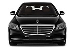 Car photography straight front view of a 2019 Mercedes Benz S-Class - 4 Door Sedan Front View