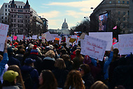 Washington, DC - March 24, 2018: The U.S. Capitol stands in the background as hundreds of thousands of people gather in Washington, DC for the national March for Our Lives Rally, March 24, 2018.  (Photo by Don Baxter/Media Images International)