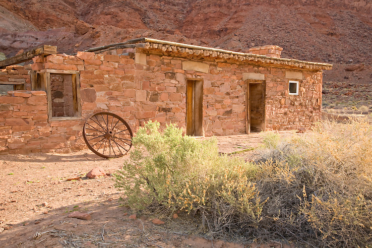 Glen Canyon National Recreation Area, AZ / APR.Home to the first USGS Stream Hydrologist, Irving Cockcroft in 1923, the Lees Ferry Fort was originally built in 1874 as a fortified trading post.