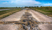 Abandoned Lanes of Route 66 Near Litchfield Illinois