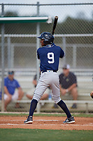 Misael Gonzalez during the WWBA World Championship at the Roger Dean Complex on October 18, 2018 in Jupiter, Florida.  Misael Gonzalez is an outfielder from Bayamon, Puerto Rico who attends Puerto Rico Baseball Academy.  (Mike Janes/Four Seam Images)