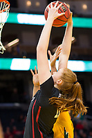 SAN FRANCISCO, CA - NOVEMBER 09: San Francisco, CA - November 9, 2019: Ashten Prechtel at the Chase Center. The Stanford Cardinal defeated the USF Dons 97-71. during a game between University of San Francisco and Stanford Basketball W at Chase Center on November 09, 2019 in San Francisco, California.