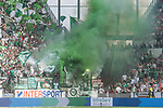 12.05.2018, OPEL Arena, Mainz, GER, 1.FBL, 1. FSV Mainz 05 vs SV Werder Bremen<br /> <br /> im Bild<br /> Pyrotechnik im G&auml;stefanblock / Werder Fans z&uuml;ndeln vor dem Spiel, Rauch, <br /> <br /> Foto &copy; nordphoto / Ewert