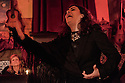 Lisbon, Portugal. 26.03.2015. Filipa Tavares, a Fado singer (Fadista) singing in a restaurant in Alfama, Lisbon, Portugal. © Jane Hobson.