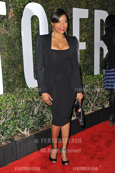 Taraji P. Henson at the Los Angeles premiere of &quot;Mandela: Long Walk to Freedom&quot; at the Cinerama Dome, Hollywood.<br /> November 11, 2013  Los Angeles, CA<br /> Picture: Paul Smith / Featureflash