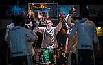 S&ouml;dert&auml;lje 2014-03-25 Basket SM-kvartsfinal 1 S&ouml;dert&auml;lje Kings - J&auml;mtland Basket :  <br /> S&ouml;dert&auml;lje Kings Mantas Griskenas g&ouml;r entr&eacute; under en spelarpresentation inf&ouml;r matchen mot J&auml;mtland<br /> (Foto: Kenta J&ouml;nsson) Nyckelord:  S&ouml;dert&auml;lje Kings SBBK J&auml;mtland Basket SM Kvartsfinal Kvart T&auml;ljehallen intro