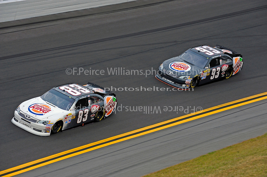 Landon Cassill (#83) and David Reutimann (#93)