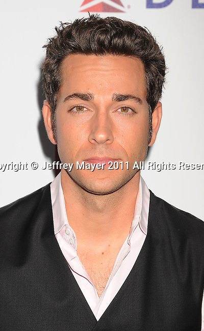 "CULVER CITY, CA - OCTOBER 15: Zachary Levi attends the The 6th Annual ""A Fine Romance"" Event at Sony Pictures Studios on October 15, 2011 in Culver City, California."
