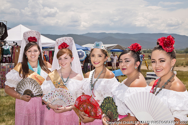 The annual Taos Pow-Wow,  each year in early July,  is attended not only by dancers from different tribes of New Mexico but by  participants from many other states as well.Princess Justinve Sandoval and her court.