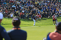 Phil Mickelson (Team USA) on the 8th green during the Friday Foursomes at the Ryder Cup, Le Golf National, Ile-de-France, France. 28/09/2018.<br /> Picture Thos Caffrey / Golffile.ie<br /> <br /> All photo usage must carry mandatory copyright credit (© Golffile | Thos Caffrey)