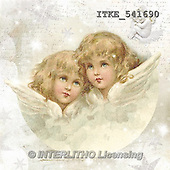 Isabella, CHRISTMAS CHILDREN, WEIHNACHTEN KINDER, NAVIDAD NIÑOS, paintings+++++,ITKE541690,#xk# vintage,retro ,angels