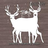 Alberta, CHRISTMAS SYMBOLS, WEIHNACHTEN SYMBOLE, NAVIDAD SÍMBOLOS, paintings+++++,ITAL187,#xx# ,deer,deers