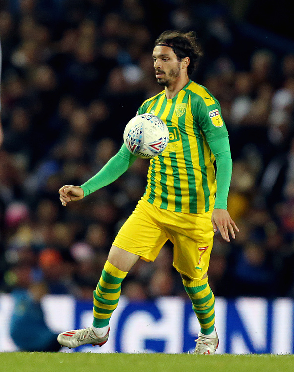 West Bromwich Albion's Filip Krovinovic<br /> <br /> Photographer Rich Linley/CameraSport<br /> <br /> The EFL Sky Bet Championship - Tuesday 1st October 2019  - Leeds United v West Bromwich Albion - Elland Road - Leeds<br /> <br /> World Copyright © 2019 CameraSport. All rights reserved. 43 Linden Ave. Countesthorpe. Leicester. England. LE8 5PG - Tel: +44 (0) 116 277 4147 - admin@camerasport.com - www.camerasport.com