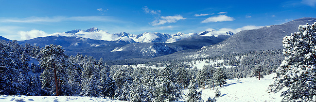 Longs Peak dominates the Front Range peaks in Rocky Mountain National Park, Colorado.