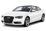 2014 Audi A5 Premium Quattro 2 Door Coupe angular front stock photos of front three quarter view