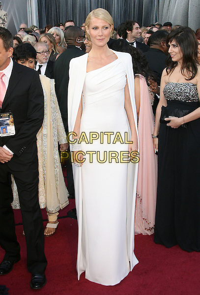Gwyneth Paltrow.84th Annual Academy Awards held at the Hollywood & Highland Center, Hollywood, California, USA..February 26th, 2012.full length white dress cape oscars.CAP/ADM.©AdMedia/Capital Pictures.